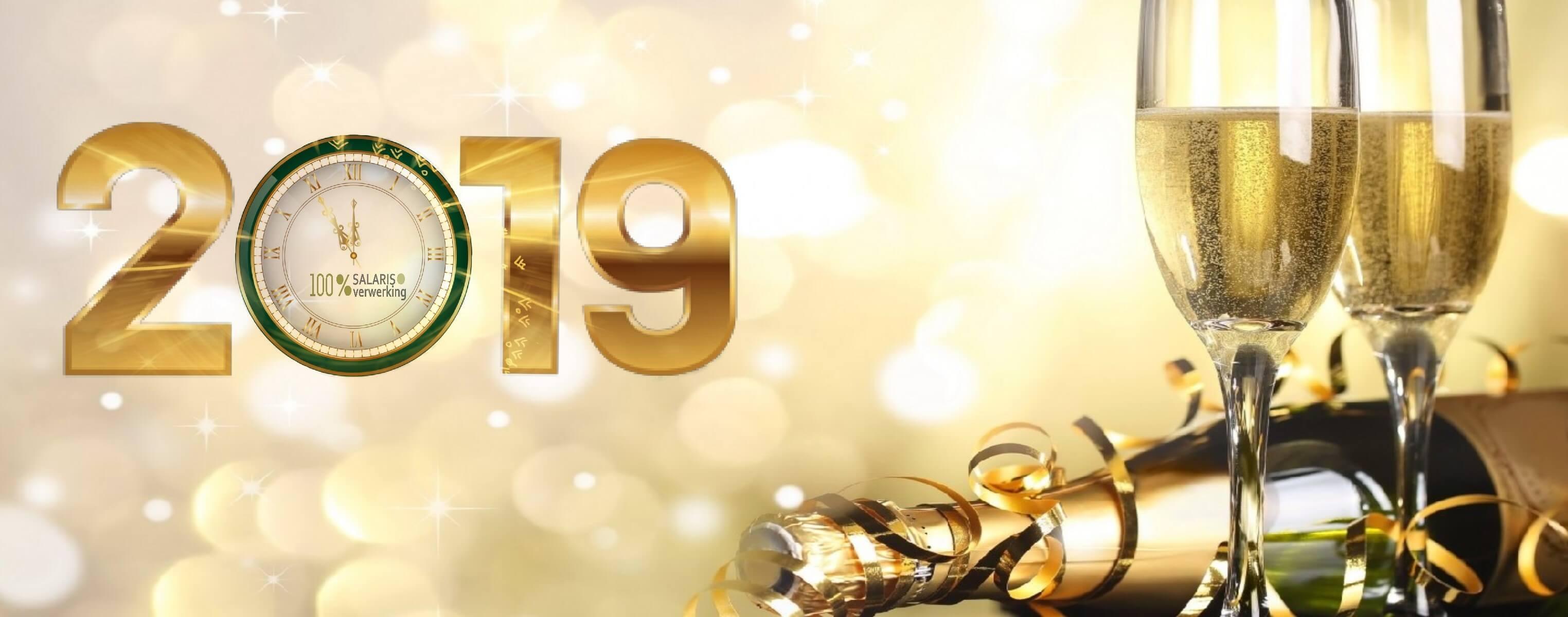 het nieuwe jaar 2019, salarisverwerking, 100% salarisverwerking, 100% werkgeverscoach, 100% payrolling,